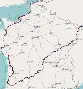 Route Frankreich