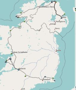 Route Irland